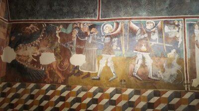affresco nella cappella di San Michele Verrayes
