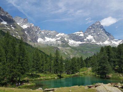 Lago Blu a Cervinia in estate
