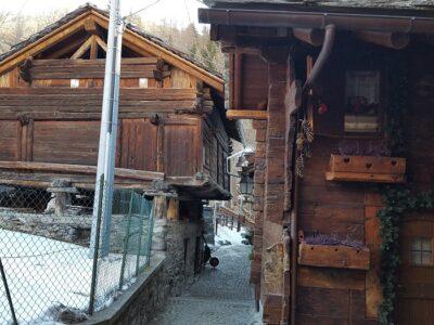 Villaggio di Cretaz a Valtournenche