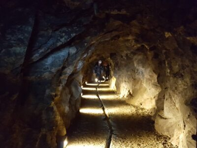 Galleria della miniera di Brusson