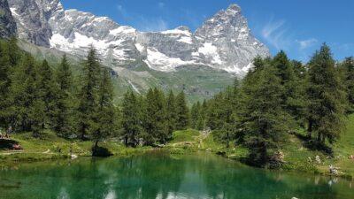 Lago Blu a Cervinia