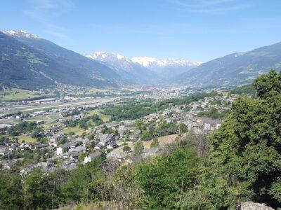 Veduta di Aosta dal Ru du Prevot